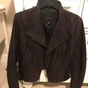 Andrew Marc Bayside Leather Jacket in dark plum